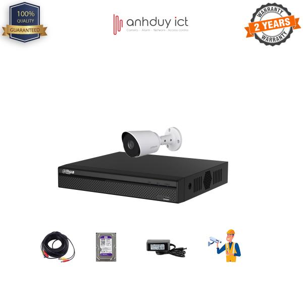Lắp Đặt Trọn Bộ 1 Camera Full HD 2MP Dahua