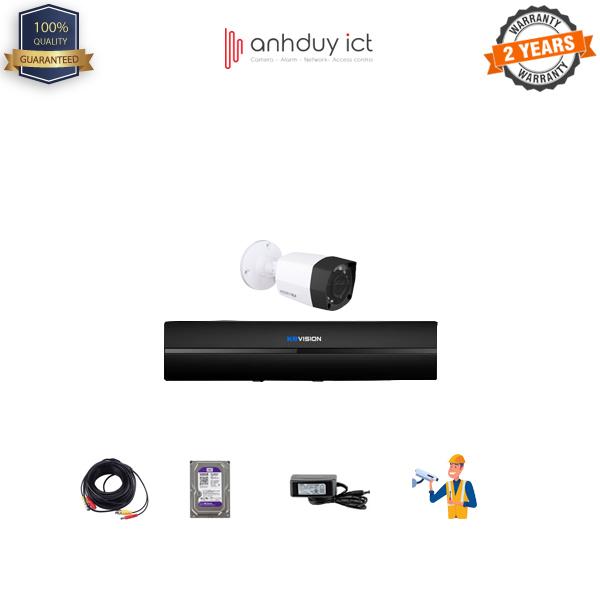 Lắp Đặt Trọn Bộ 1 Camera HD 1MP KBvision